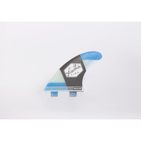 Feather Fins Feather Fins FCS Carbonflex Thruster Fins Blue