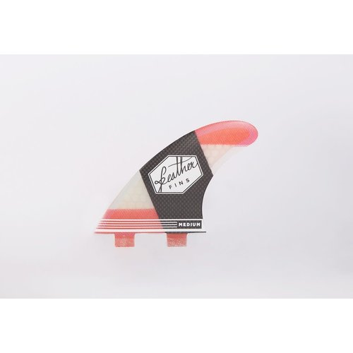Feather Fins Feather Fins FCS Carbonflex Thruster Fins Red