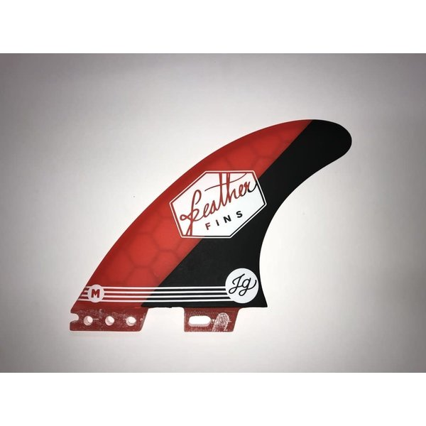 Feather Fins FCS II Signatures Jonathan Gonzalez Thruster Fins Red