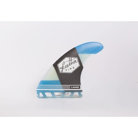 Feather Fins Feather Fins Futures Carbonflex Thruster Fins Blue