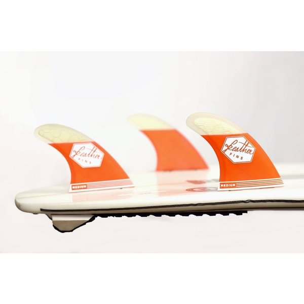 Feather Fins FCS Ultralight Thruster Fins Red/White