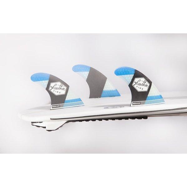 Feather Fins FCS Carbonflex Thruster Fins Blue