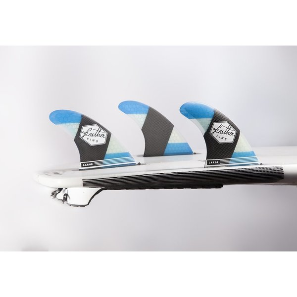 Feather Fins Futures Carbonflex Thruster Fins Blue