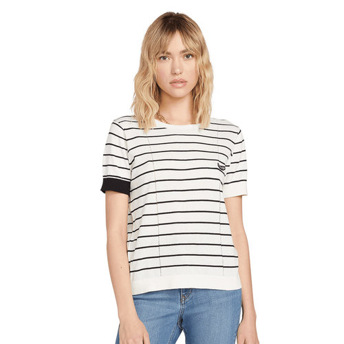 Volcom Volcom Women's Simple Stone SS Knit Sweater Stripe