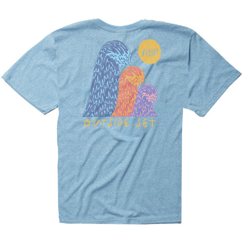 Vissla Vissla Boys Outside Sets Tee Blue Wash Heather