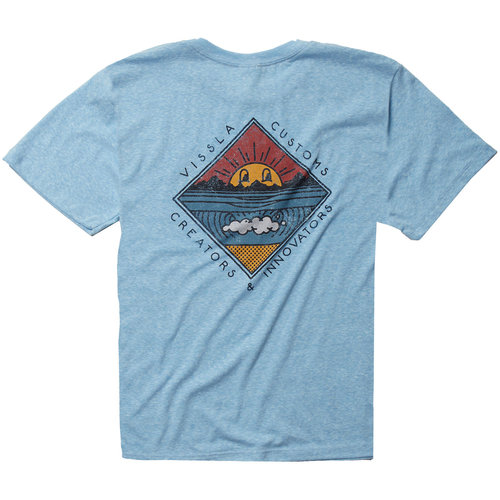 Vissla Vissla Boys Warming Tee Ice Blue Heather