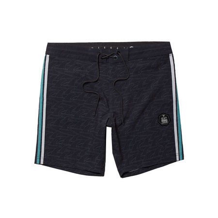 "Vissla Vissla Heren Backwards Fin Beach Grit 16.5"" Boardshorts Zwart"