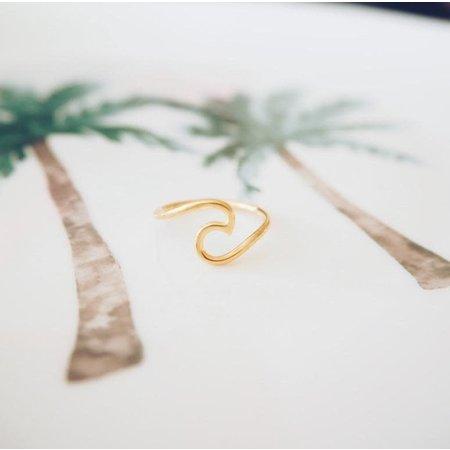 At Aloha At Aloha Surf It Gold Plated Ring