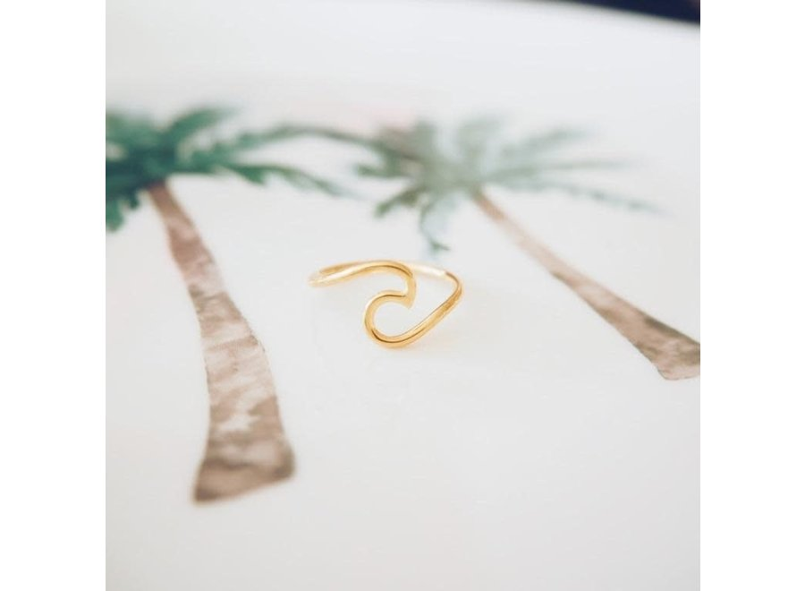 At Aloha Surf It Gold Plated Ring