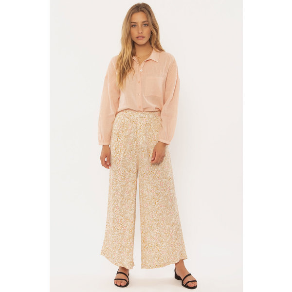 Sisstrevolution Dames Rocky Tides Woven Pants Taupe
