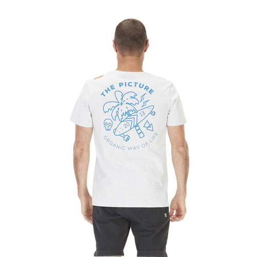 Picture Organic Clothing Picture Heren Venice Tee A Pale Blue Light Blue