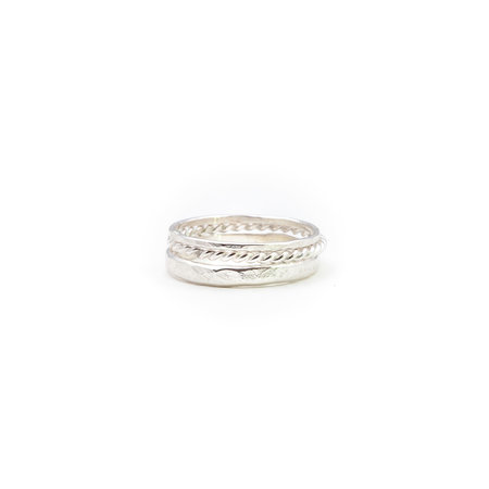 A Little Lem A Little Lem Olivia The Oblivious Triple Silver Ring