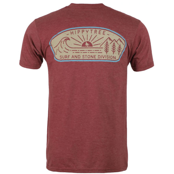 Hippy Tree Heren Daybreak Tee Heather Rust