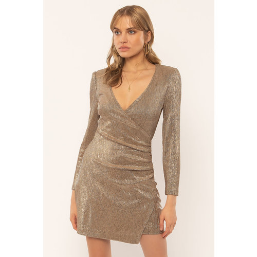Amuse Amuse Last Dance LS Knit Dress Champagne