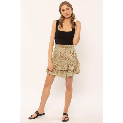 Amuse Amuse Loren Woven Mini Skirt Natural