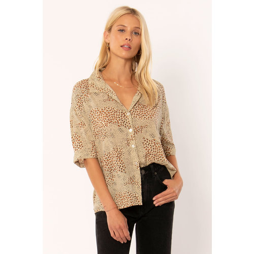 Amuse Amuse Wildcat SS Woven Blouse Natural