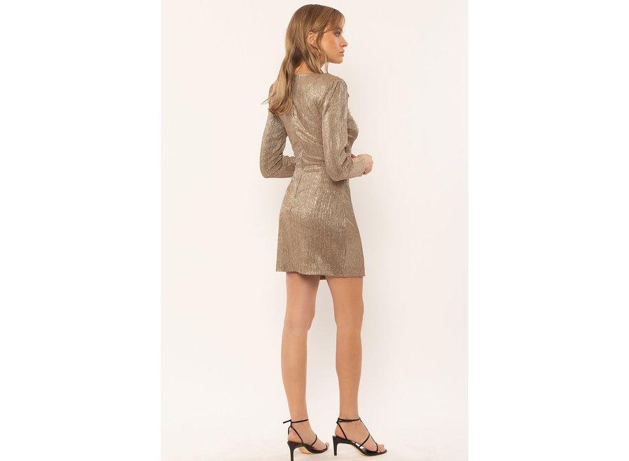 Amuse Last Dance LS Knit Dress Champagne