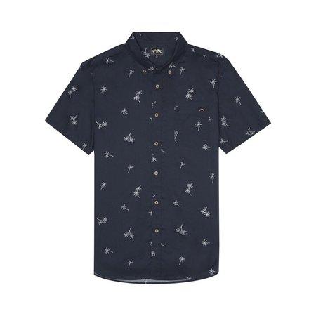 Billabong Billabong Heren Sundays Mini SS Shirt Navy