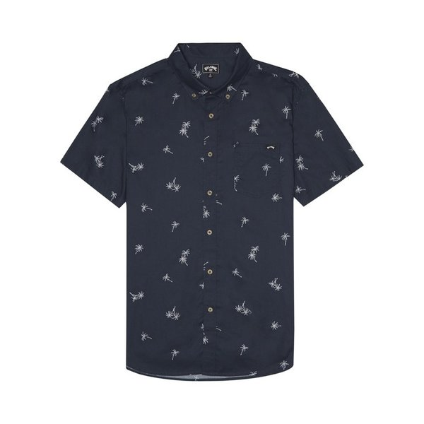 Billabong Heren Sundays Mini SS Shirt Navy
