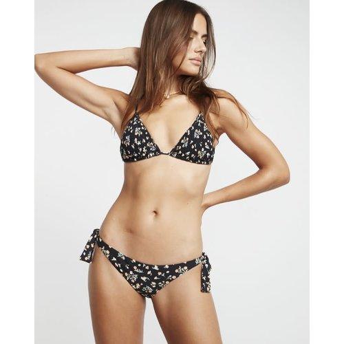 Billabong Billabong Dames Sweet Side Tanga Bikini Bottom Black Pebble