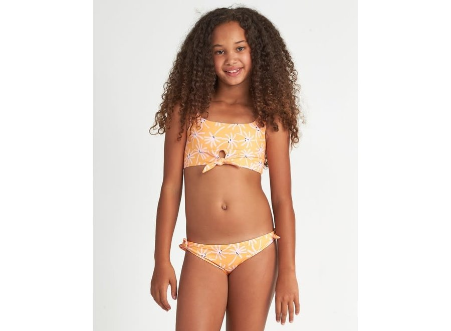 Billabong Meisjes Letting Go Floral Bikini Set Mango