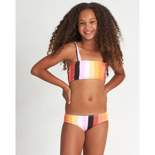 Billabong Billabong Girls Sunset Glow Striped Bikini Set Multi