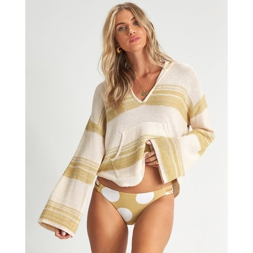 Billabong Billabong Dames Baja Beach Hooded Jumper Grass Roots