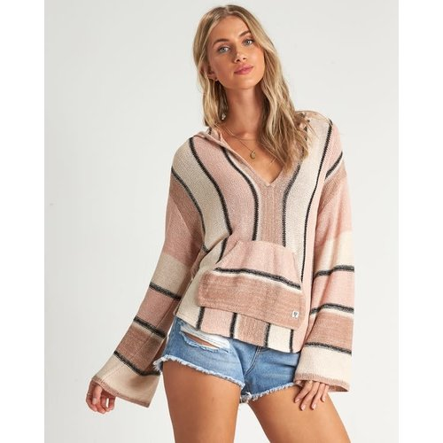 Billabong Billabong Dames Baja Beach Hooded Jumper Peaches