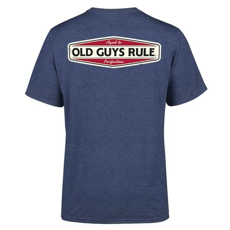 Old Guys Rule Old Guys Rule Aged To Perfection II Tee Heather Navy
