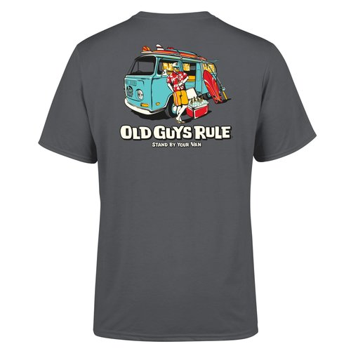 Old Guys Rule Old Guys Rule Stand By Your Van II Tee Charcoal