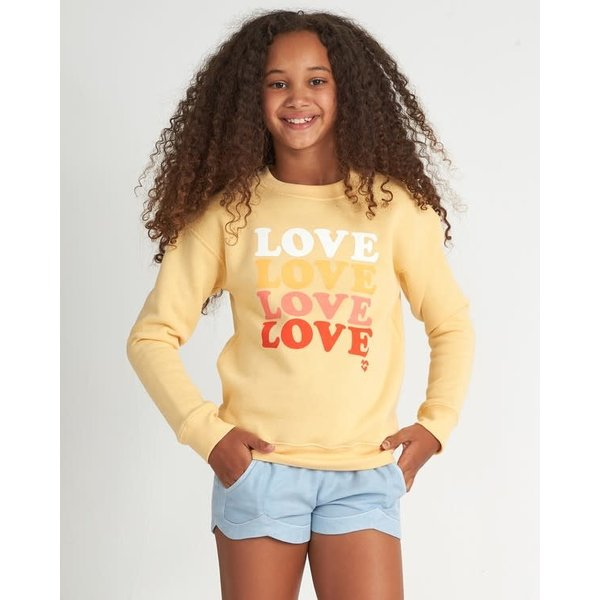 Billabong Kinder So Much Love Crew Canary Yellow