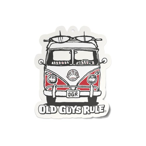 Old Guys Rule Old Guys Rule Air Freshener New Car Cardinal Red