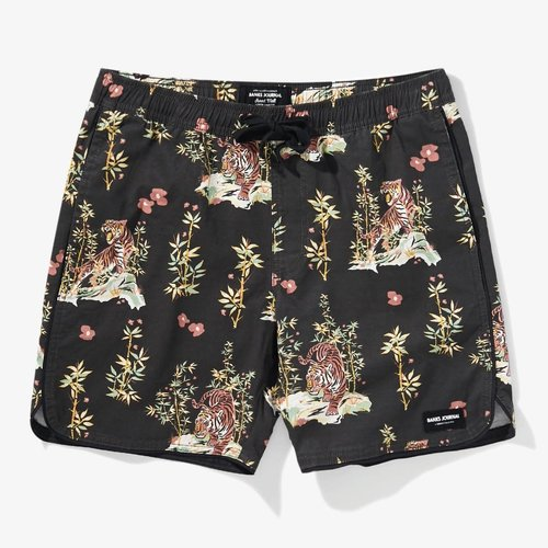 Banks Journal Banks Journal Heren Jared Mell Elastic Boardshorts Dirty Black