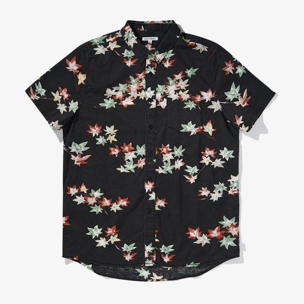 Banks Journal Heren Eco SS Woven Shirt Dirty Black
