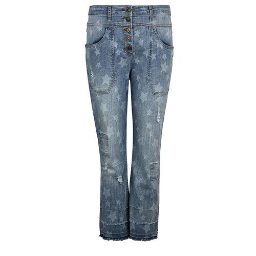 Isla Ibiza Isla Ibiza Dames Trousers Baggy Denim Blue