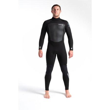 C-Skins C-skins Legend 4/3 Men's Summer Wetsuit Black/Black/Grey