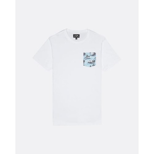 Billabong Billabong Men's All Day Printed Tee White