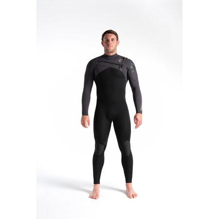 C-Skins C-skins ReWired 4/3 Heren Wetsuit Black/MeteorX/Lime