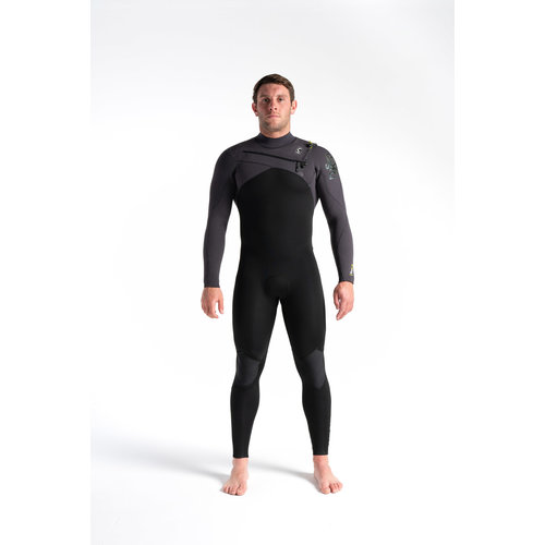 C-Skins C-skins ReWired 4/3 Heren Wetsuit Black/MeteorX/Lime