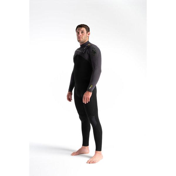 C-skins ReWired 4/3 Heren Wetsuit Black/MeteorX/Lime