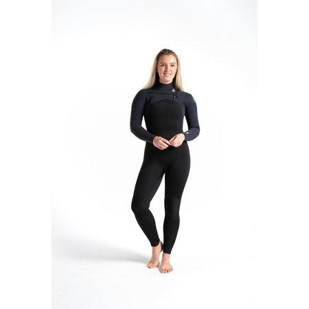 C-Skins C-Skins ReWired 4/3 Dames Zomer Wetsuit Black/BlackX/White