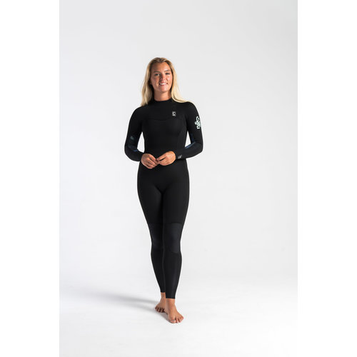C-Skins C-Skins Solace 3/2 Dames Wetsuit RavenBlack/Unity/GreenAsh