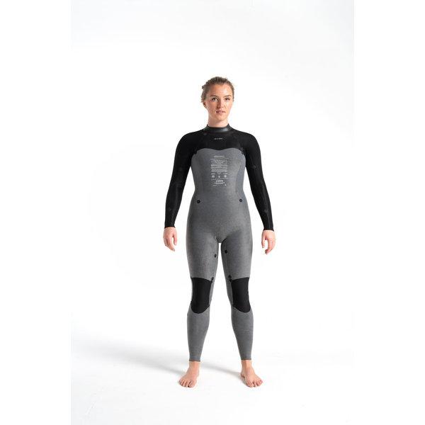 C-Skins Solace 3/2 Dames Wetsuit RavenBlack/Unity/GreenAsh