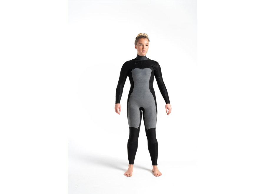 C-Skins Solace 4/3 Women's Wetsuit RavenBlack/Unity/GreenAsh