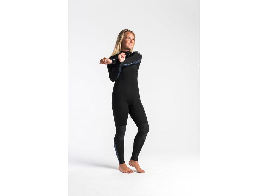 C-Skins Solace 4/3 Dames Wetsuit Black/Unity/GreenAsh