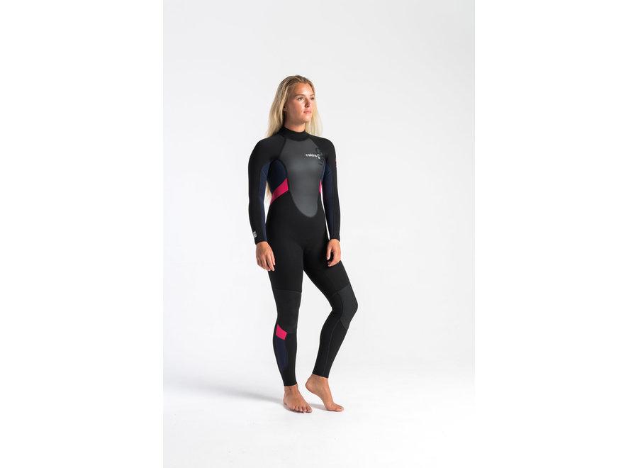 C-Skins Element 3/2 Women's Wetsuit Black/Slate/Coral
