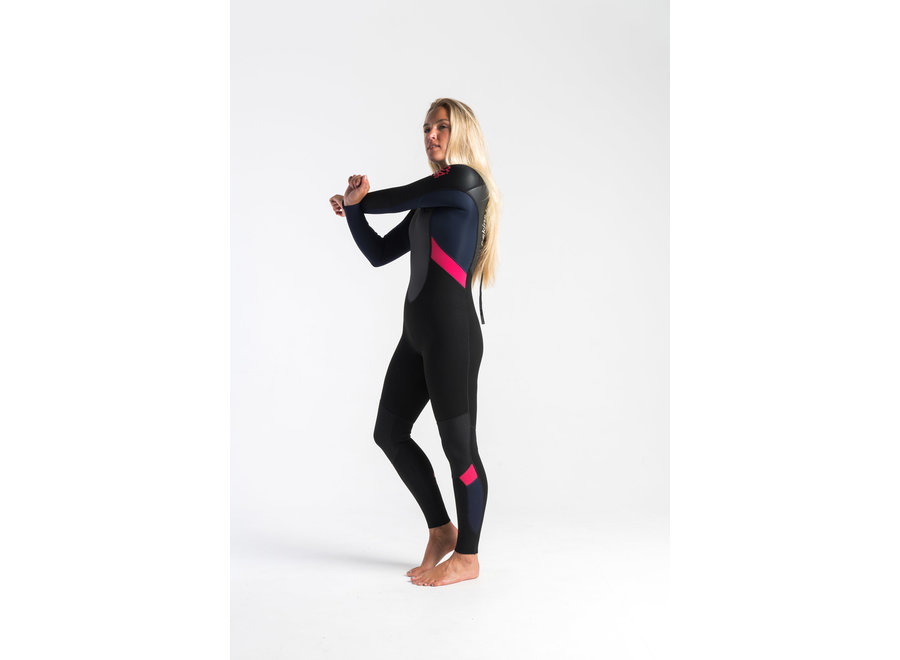 C-Skins Element 3/2 Dames Wetsuit Black/Slate/Coral