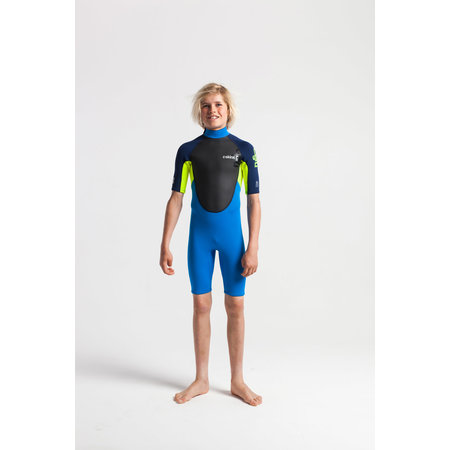 C-Skins C-Skins Element 3/2 Tiny Tots Peuter Wetsuit Shorty Cyan/Yellow/Navy