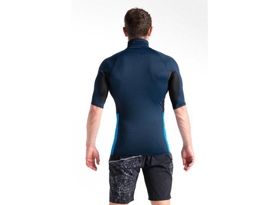 C-Skins Heren Lycra Short Sleeve SlateNavy/Black/Cyan