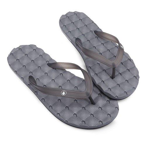 Volcom Volcom Men's Recliner Rubber 2 Slippers Black Grey